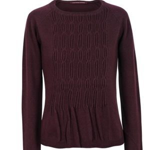 Comptoir des Cotonniers burgundy wool sweater S